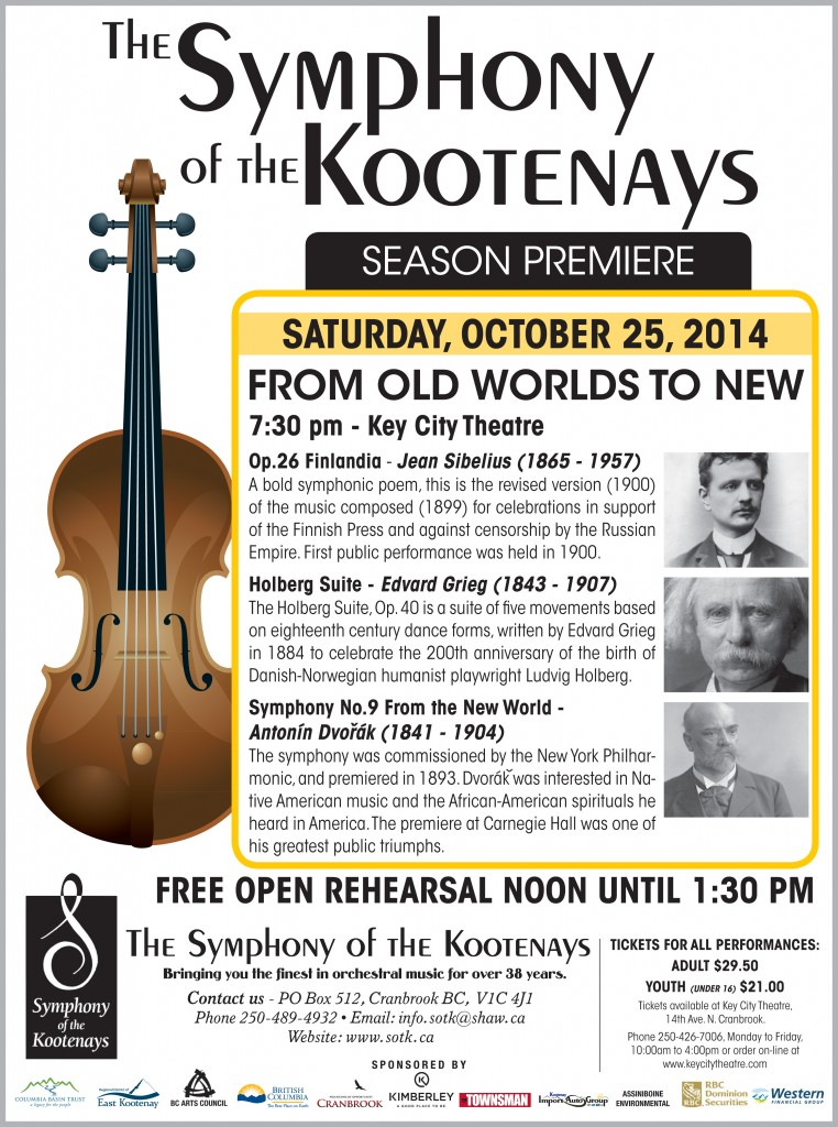 Symphony of the Kootenays Old to New TB 10.09