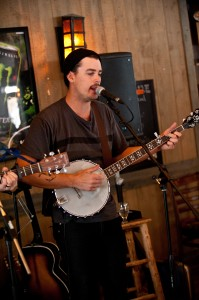 Eric Larocque snd his old time banjo
