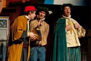Shylock, Bossanio and Antonio