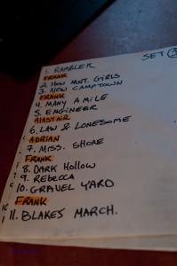 Set List 1.