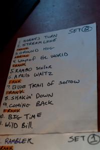 set list 2