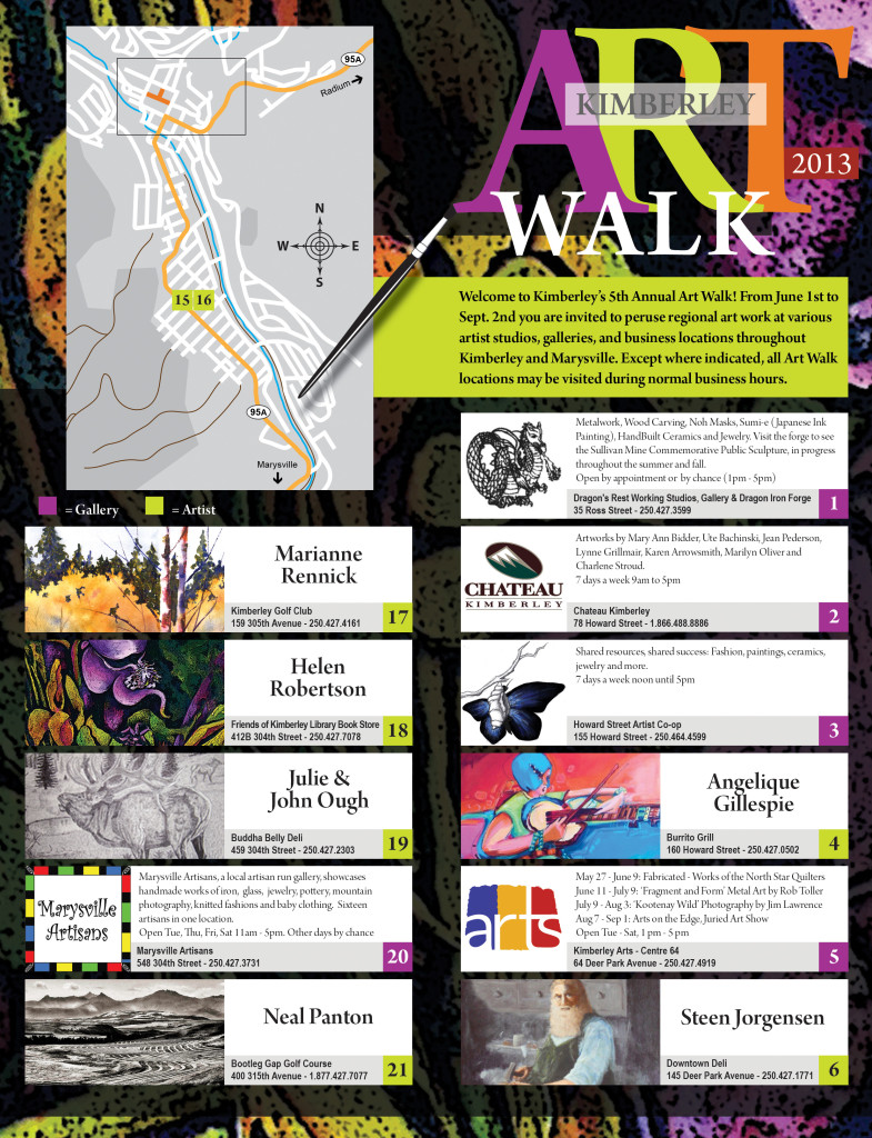 Artwalk 2013 - Brochure - front