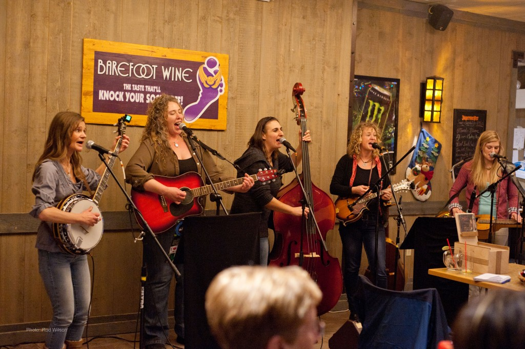 Paige Lennox - banjo & vocals; Cosima Wells - vocals, guitar; Janice Nicli - bass and vocals; Shauna Plant - mandolin & vocals; Heather Gemmell - guitar, dobro & vocals