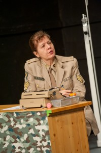 Sergeant Thech played by Melodie Hull
